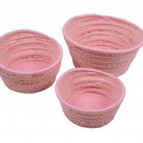 MALANG set of 3 baskets - Pink