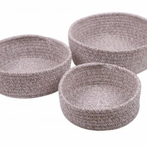 LOU set of 3 baskets - Brun