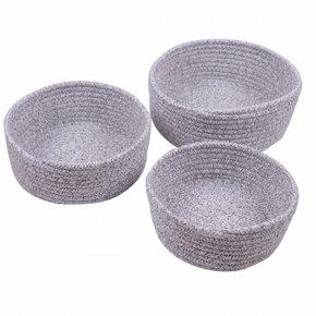 LOU set of 3 baskets - Grey