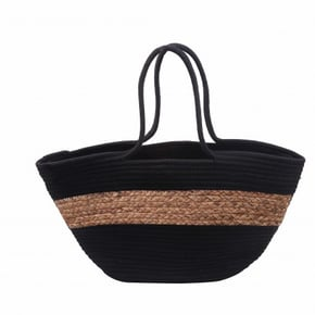 Straw bag 55x30cm black...