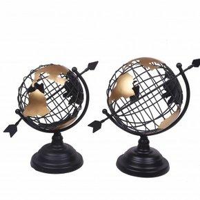 Globe map-monde métallique...