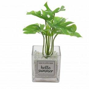 Pot de fleurs en verre.