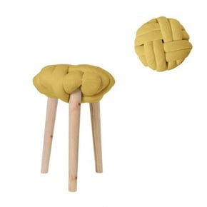 Stool knot and wooden legs...