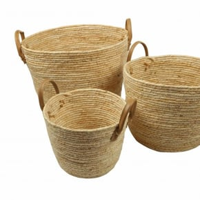 Set of 3 baskets white