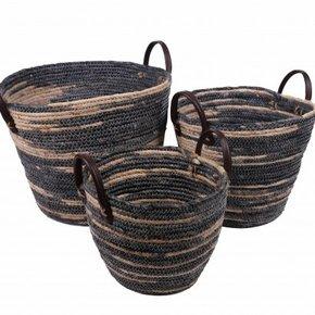 RAFFY set of 3 baskets grey