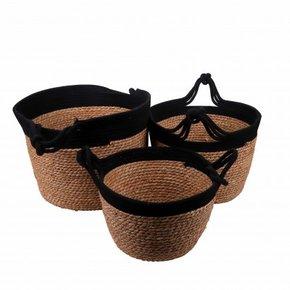 ARVIN set of 3 baskets black