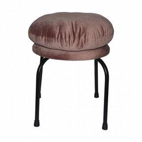 Stool with velvet cushion -...