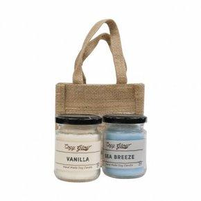 Set van 2 Kaarsen : Vanille...