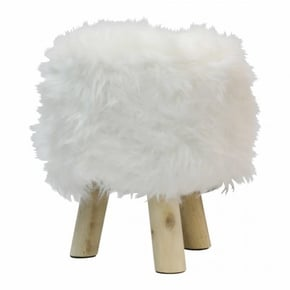 Stool footstool fur long...