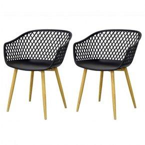 MOKA Chair TAUPE Set of 2 -...