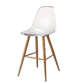 Bar stool with transparent...