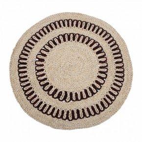 Round carpet in jute...