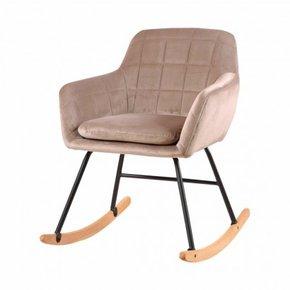 Chaise à bascule capitonnée...