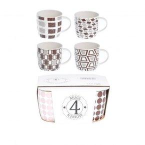 ALIZEE lot de 4 mugs en...