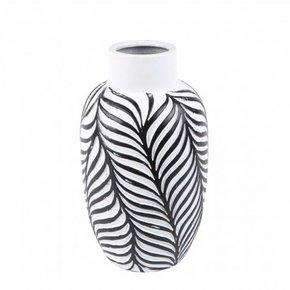 Vase JOY black and white H26