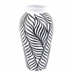 Vase JOY black and white H30