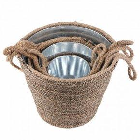 ROGELIO set of 4 metal baskets