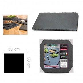 Plat en  ardoise carré 30x30cm