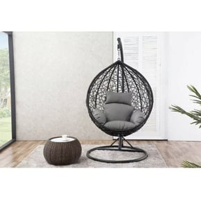Swinging armchair suspended...