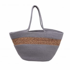 Straw bag 55x30cm Grey