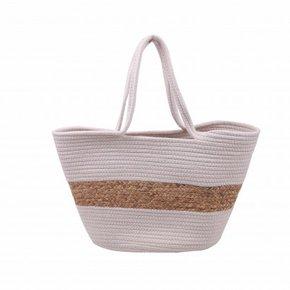 Straw bag 55x30cm white...