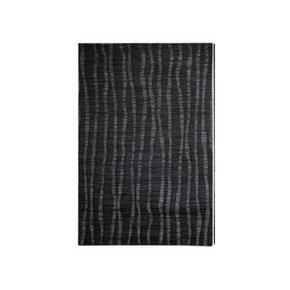 Gestreepte placemat - Zwart