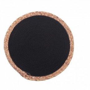 Jute placemat 38x38 cm - Black