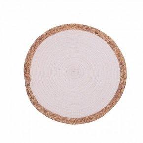 Jute placemat 38x38 cm - White