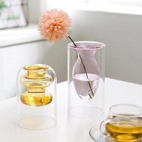 Vase SALOME rose H15