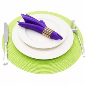 Ronde placemat - Groen