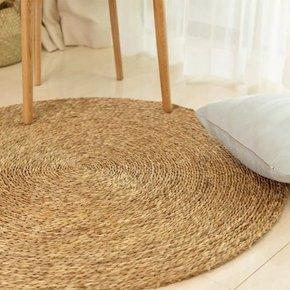 Rond tapijt in natuurlijke...