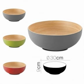 Bamboo koa salad bowl D30 x...