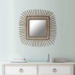Rotan Spiegel Vierkant