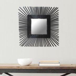 Spiegel Rotan Zwart