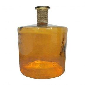 IVO glass vase 45 cm - Yellow