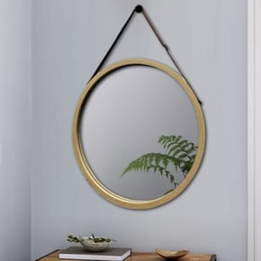 ANJA miroir bamboo D45 cm