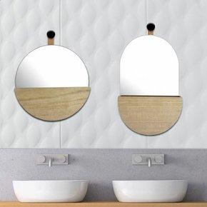 Ovale Spiegel met Houten...