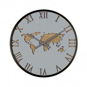 Horloge Mapmonde grise...