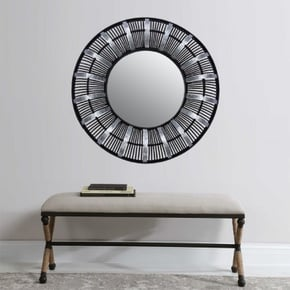 YSEE miroir en bambou D72 cm