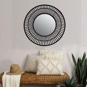 ANILA bamboo mirror D72 cm