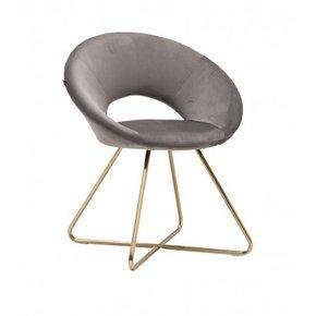 ABBY velvet armchair golden...