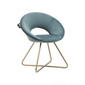 ABBY fluwelen fauteuil met...