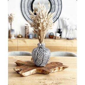 Vase JOY black and white H21