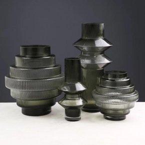 SOBAT glass vase H25 cm
