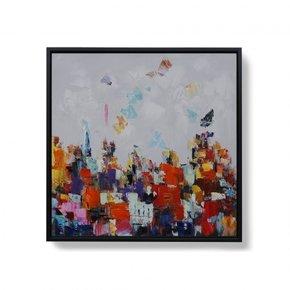 Handbeschilderd doek - 80x80CM
