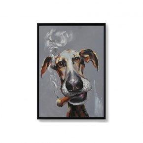 BENJI hand-painted canvas -...