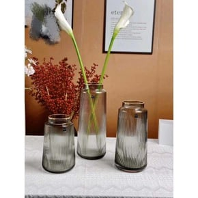 Vase KILALI en verre H32 cm