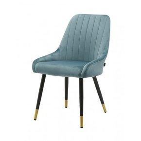 Romy velvet dining chair -...