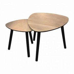 Set de 2 table d'appoint en...