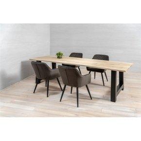 Dining table Metal  legs in...